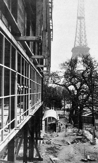 14. pabellon en obras - PARIS 1937 - 400