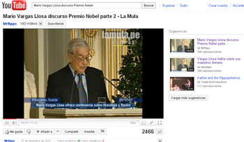 Discurso DEL PREMIO NOVEL Mario Vargas Llosa en stepienybarno
