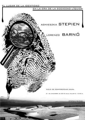 cartel conferencia Stepien-Barnó escuela de arquitectura de malaga 350