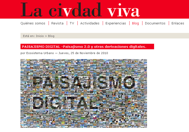 paisajismo digital Lluís Sabadell Artiga para Ecosistema Urbano para el blog La Ciudad Viva. en stepienybarno