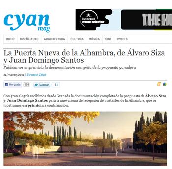 EL  ATRIO DE LA ALHAMBRA EN CYANMAG Álvaro Siza y Juan Domingo Santos. en stepienybarno