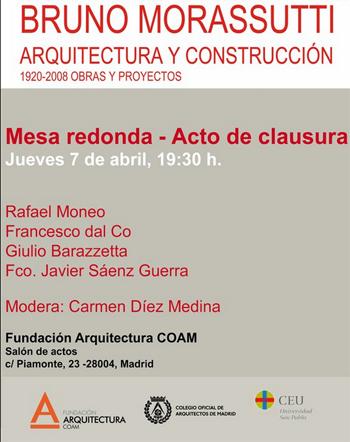 0. BRUNO MORASSUTTI, ARQUITECTURA Y CONSTRUCCION. 1920-2008 obras y proyectos.