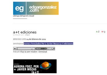Aurora Fernández Per y Javier Mozas (a+t ediciones) edgar gonzalez planeta beta en stepienybarno