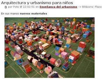 Arquitectura y urbanismo para niños.Urblog.Stepienybarno