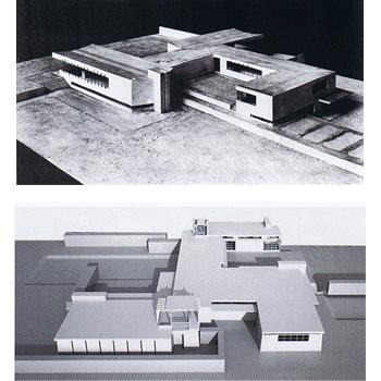 0. Casa de campo de hormigón, Mies van der Rohe _  Schindler - Chace, Kings Road Schindler  350  copia