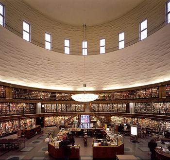 Biblioteca pública de Estocolmo.   asplund muerte _ stepienybanro  350