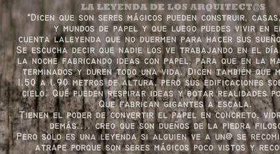 LA LEYENDA DE LOS ARQUITECTOS _ stepienybarno