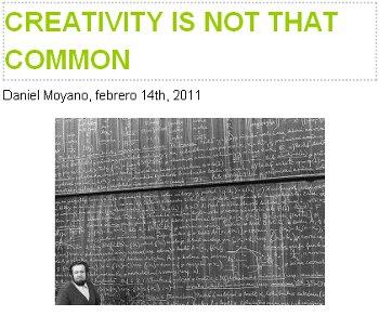 creativeness is not that common. Daniel Moyano.CCAD.Stepienybarno