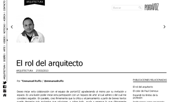 El rol del arquitecto _ Por Emmanuel Ruffo  emmanuelruffo _ stepienybarno