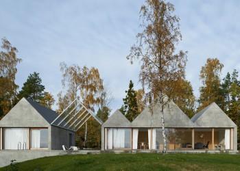 Tham and Videgard Arkitekter. Casa de verano en Lagnö. Via Dezeen.