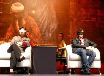 Judit Polgar y Magnus Carlsen _ dos de los MULTIPLES niñ@s prodigio del ajedrez jugando a ciegas