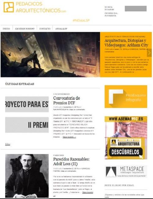 2. Pedacicos - arquitectonicos - stepienybarno - blog- entrevista - pantallazo del blog
