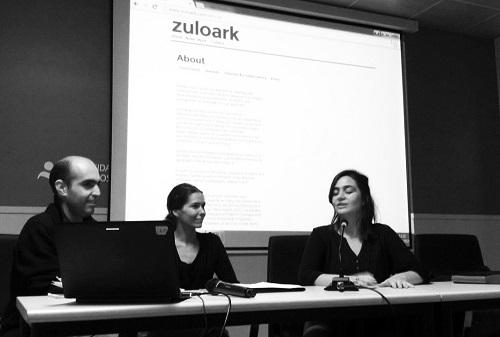 3. La profesora Belinda Tato con Zuloark. Ciclos de conferencias.