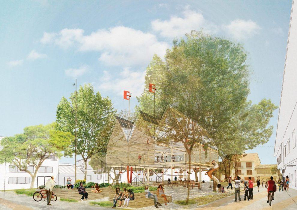 5. VII EDICIÓN DEL MÁSTER EN ARQUITECTURA Y ENERGÍA- Belinda Tato- ecosistema urbano- Stepienybarno- La casa en el árbol, Plaza Mary Corilé