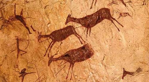 1.2 Escena de caza _ en la Cueva de los caballos de La Valltorta, Castellón _ la ciudad viva 500