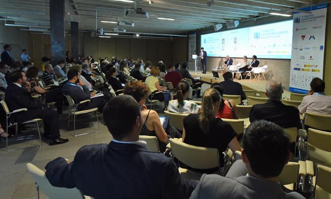 El Auditorio del COAM durante el III Congreso Edificios Inteligentes.